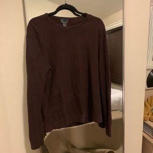 Maroon textured sweater